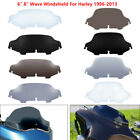 """6""""/8"""" Wave Windshield Windscreen For Harley Touring Street Glide FLHT 1996-13 US"""