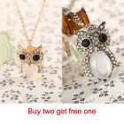 G2B Fashion Sparkling Crystal Owl Necklace Pendant  Rhinestone Jewelry For Women