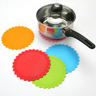 Silicone Heat Resistant  Mat Pan Pot Cup Holder Pad Straightener Non Slip Hot