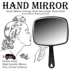 HAND HELD MIRROR SALON STYLE HAND HELD VANITY MIRROR PROFESSIONAL MAKEUP TOOL UK