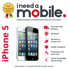 Apple iPhone 5 16GB 32GB 64GB  - All Colours - UNLOCKED - O2 - EE - 3 - VODAFONE
