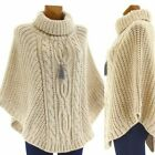Poncho wolle grobstrick mohair wolle BEIGE ELODIE BEIGE