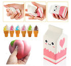 NEW Jumbo Squishy Milk/Peach/Ice Cream Slow Rising Scented Reliever Stress Toys