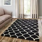 Shaggy Trellis Area Rug Fluffy Modern Carpet Contemporary Large Moroccan Style