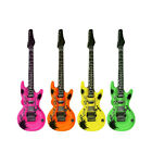 1 | 2 | 3 | 4 x Aufblasbare Gitarre Luftgitarre Instrument Neon 106cm Rock Party
