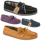 Kyпить New Boxed Mens Gents Real Suede Slip On Moccasin Tartan Slippers Loafer UK 7-12 на еВаy.соm