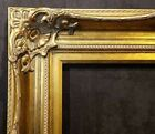 "5"" WIDE Antique Gold Leaf Ornate photo Oil Painting Wood Picture Frame 801G"
