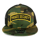 Private Security Tab Embroidered Iron on Patch Camo Flat Bill Snapback Mesh Cap