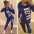 Women Casual Hooded Long Sleeve Zip-Up Sweatshirt + Pants Sport Suits DZ88