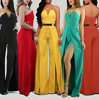 Women Strapless Jumpsuit Evening Overall Clubw Party Playsuit Long Pants Romper