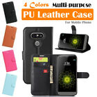LG G5 / H830 LS992 VS987 US992 AS992 H820 RS988 Leather Wallet Case Folio Pouch