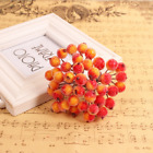 Mini Christmas Fruit Berry Holly Artificial Flower Pick Home Decor Hot Sales