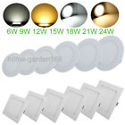 Dimmable 6W 9W 12W 18W 24W LED Ceiling Panel Light Downlight Cool/Natural White