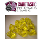 Translucent Yellow with White Set of Ten d10 Dice Chessex