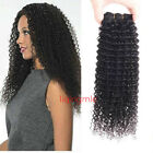 Kinky Curly Remy Virgin Indian Human Hair Extensions 1-2Bundle weave Weft Afro