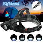 40000Lm Elfeland 3x T6 LED Rechargeable Zoomable Headlamp 18650 Headlight Torch