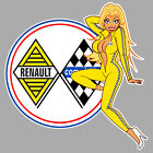 RENAULT Competition left Pin Up gauche Sticker°