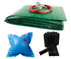 Above Ground Oval RIPSTOPPER Swimming Pool Winter Covers w/ Air Pillow & Clips