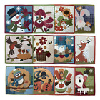 Внешний вид - Wooden Bear Little Quilts Squared Calendar Series Applique Quilt Pattern Woolies