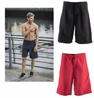 Mens Gents Tombo Board Shorts Black Red Small Medium Large Xlarge TL82