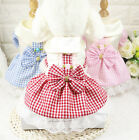 Small Dog Cat Skirt Spring Summer New Dress Doggie Kitty Lovely Clothes Bowknot
