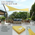 8x12 Rectangle Heavy Duty Waterproof Sun Shade Sail by Alion Home©  - 12 Colors
