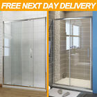 1600mm Sliding Shower Enclosure And Tray Waste Door 6/8mm Walk In Screen Cubicle