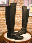 Marc Fisher Monica Black Leather & Stretch Over the Knee Boots NEW