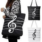 Lady Women's  Large Square Musical Symbol Shoulder Bag​ with Inner Pockets