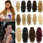 LADIES NEW CURLY SYNTHETIC CLAW CLIP REVERSIBLE PONYTAIL HAIR EXTENSION ROSIE