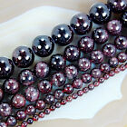 Natural DarkRed Garnet Round Gem Loose Beads 15.5