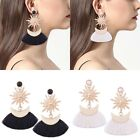 Rhinestone Long Tassel Dangle Earrings Women Ladies Girls Thread Fringe Drop new