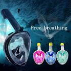 EASYBREATH SNORKELING DIVING MASK FULL FACE SCUBA SUBEA-SNORKEL FOR GOPRO CAM UK