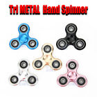 Metal Tri Fidget Hand Spinner 3D Focus Stress Reliever Toy Adults Kids Gift OZ