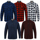 mens checked tartan shirts Tokyo Laundry Collared Flannel Long Sleeved Fashion