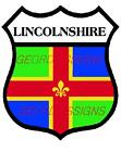 LINCOLNSHIRE SHIELD COUNTY FLAG  -  DECAL PRINTED STICKER (CHOICE OF SIZES)