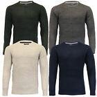 mens jumpers Brave Soul cable knitted crew neck sweater pullover acrylic winter
