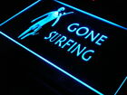 s084 b Gone Surfing Surf Home Decor Neon Light Sign