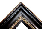 "5.75"" WIDE Black & Gold photo family Oil Painting Wood Picture Frame 333BG"