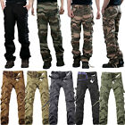 Men's Combat Cargo ARMY Pants Military Camouflage Camo Tactical Work Trousers US