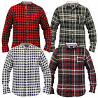 mens lumberjack shirt Brave Soul long sleeved soft brush check tartan grandad