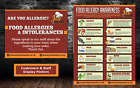 A4 Food Allergen/ allergy Poster, training and customer display, packs