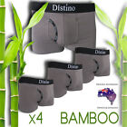 Mens Underwear - 4 Pack Men's Bamboo Boxer Briefs ( Grey - Size: Extra Large)