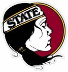 Florida State Seminoles Lady Vinyl Sticker Decal Sizes Cornhole Wallcar Truck