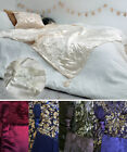 Banaras Embroidered Deluxe Throw 127 x 152cm Reversible Satin / Velvet Blanket