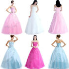 Long Quinceaera Evening Formal Party Prom Dress Ball Gown Size 6 8 10 12 14 16