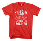 THIS GIRL LOVES HER SOLDIER Unisex Adult T-Shirt Tee Top
