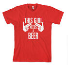THIS GIRL NEEDS A BEER Unisex Adult T-Shirt Tee Top