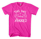 THIS GIRL IS GETTING MARRIED Unisex Adult T-Shirt Tee Top