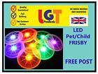Flying LED Light Up Frisbee Outdoor Multi Color Toys Pet Children Fun Frisby!